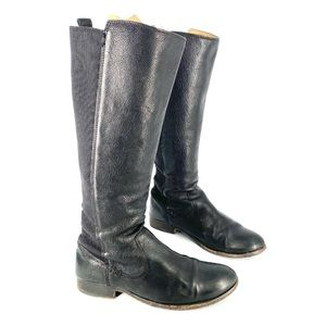 Frye Black Tall Leather Boots Size 7